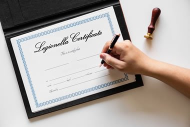 What is a legionella certificate?