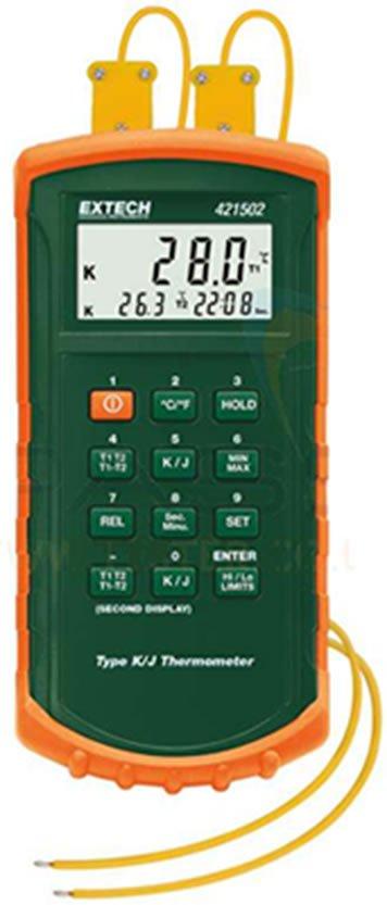 Dual input thermometer for legionella