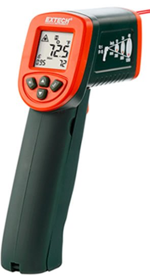 Mini infrared thermometer with K input